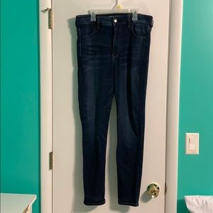 American Eagle Dark Wash Hi-Rise Jegging